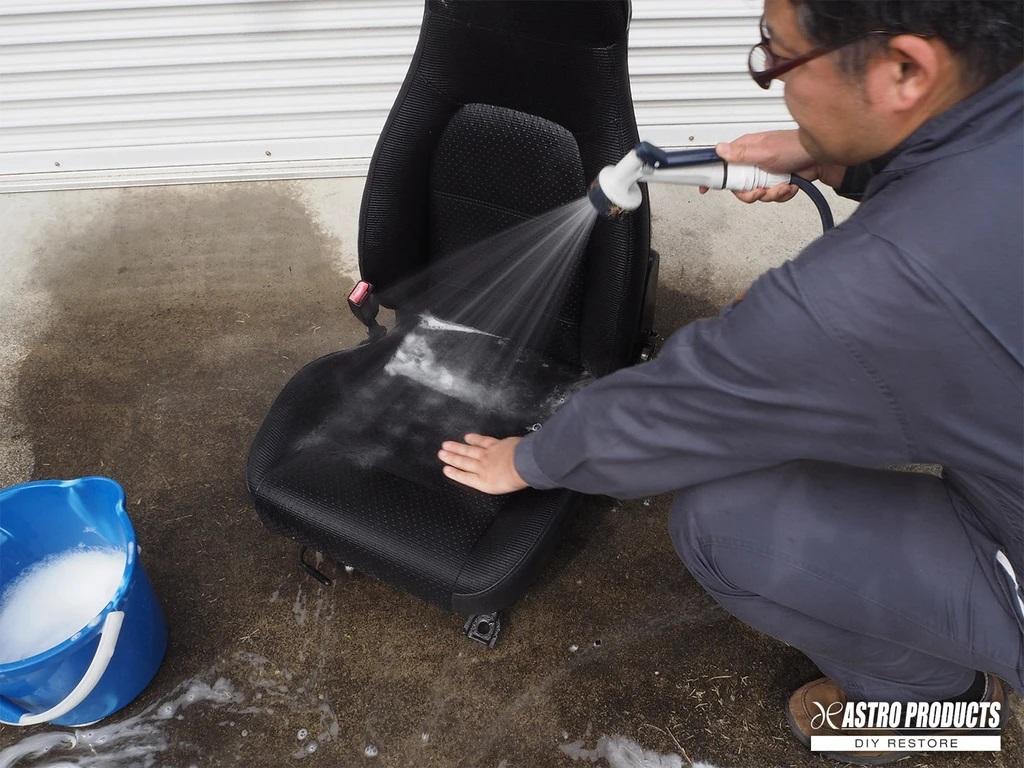 シートの丸洗い すすぎ