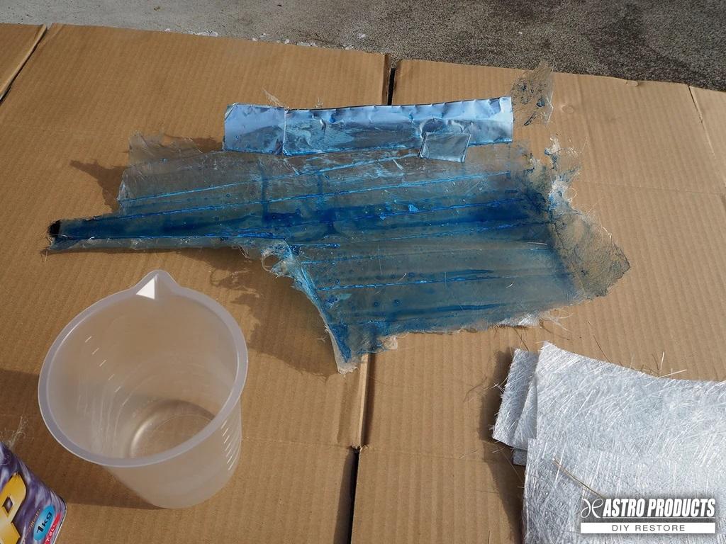 PVA剥離剤の塗布完了