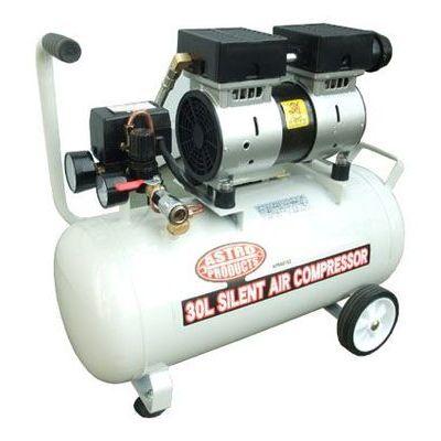 AP オイルレス サイレント エアーコンプレッサー 30L